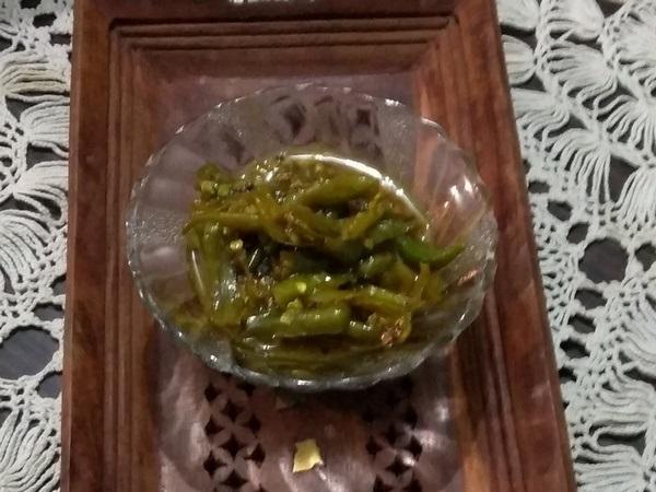 chilly gojju, ಹಸಿಮೆಣಸಿನಕಾಯಿ ಗೊಜ್ಜು